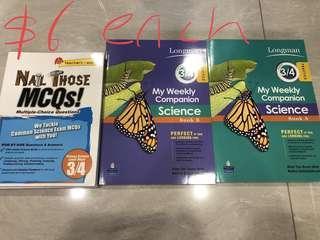 Sci Assessment Books, each $6/-
