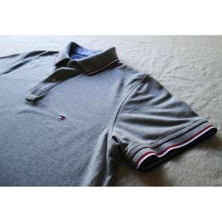 Tommy Hilfiger Grey Polo T-shirt - Free Shipping