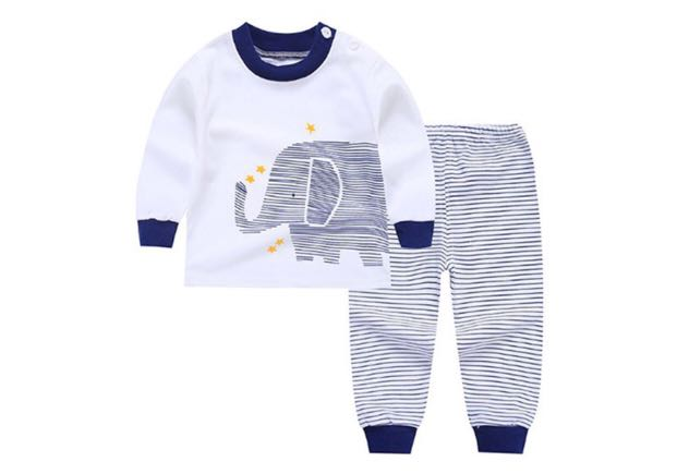5c5e599cc 2pcs baby boy girl clothes top+pants cotton baby pyjamas sleepwear ...