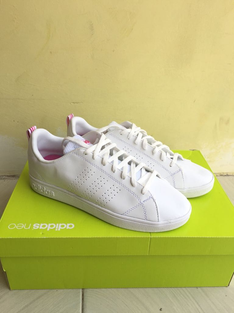 ADIDAS NEO ADVANTAGE WHITE LIST PINK ORIGINAL