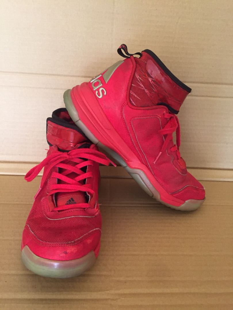 Adidas Youth Red Basketball Shoes, Men