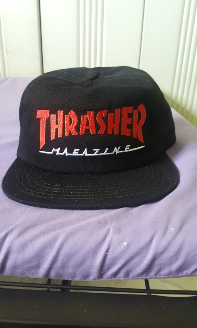 Authentic black thrasher magazine 6panel cap b11a987c53f9
