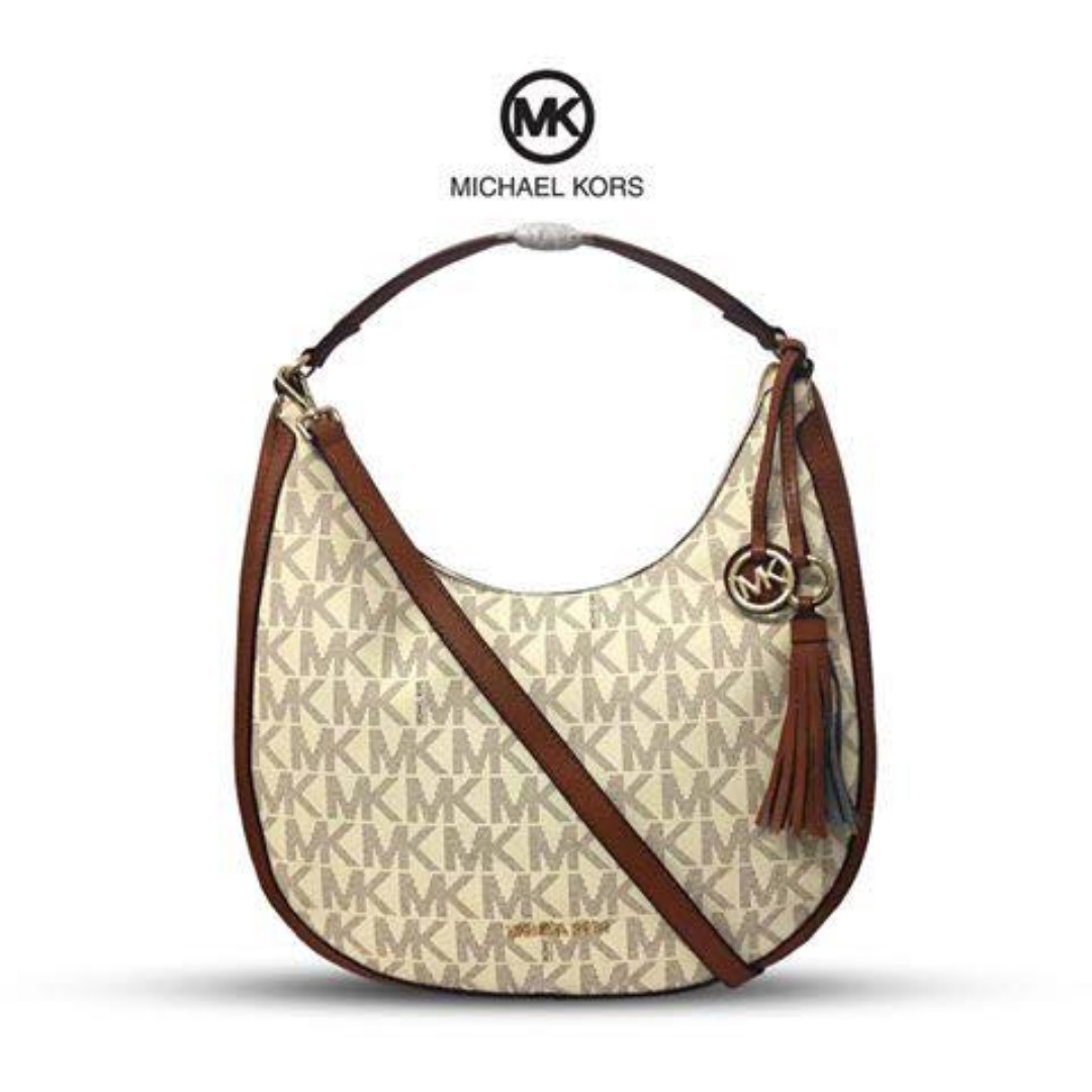 5f27952bf5f7 Authentic Quality MK Bag Michael Kors Lydia Logo Shoulder Bag Hobo ...