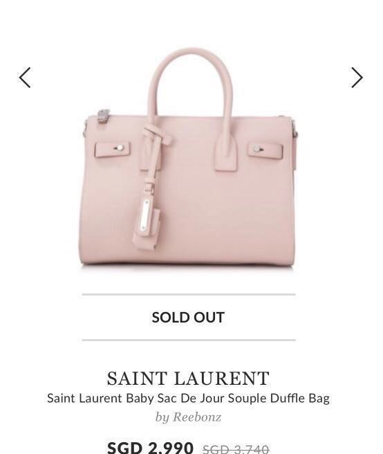 901592868f29 Authentic Saint Laurent Baby Sac De Jour Souple Duffle Bag
