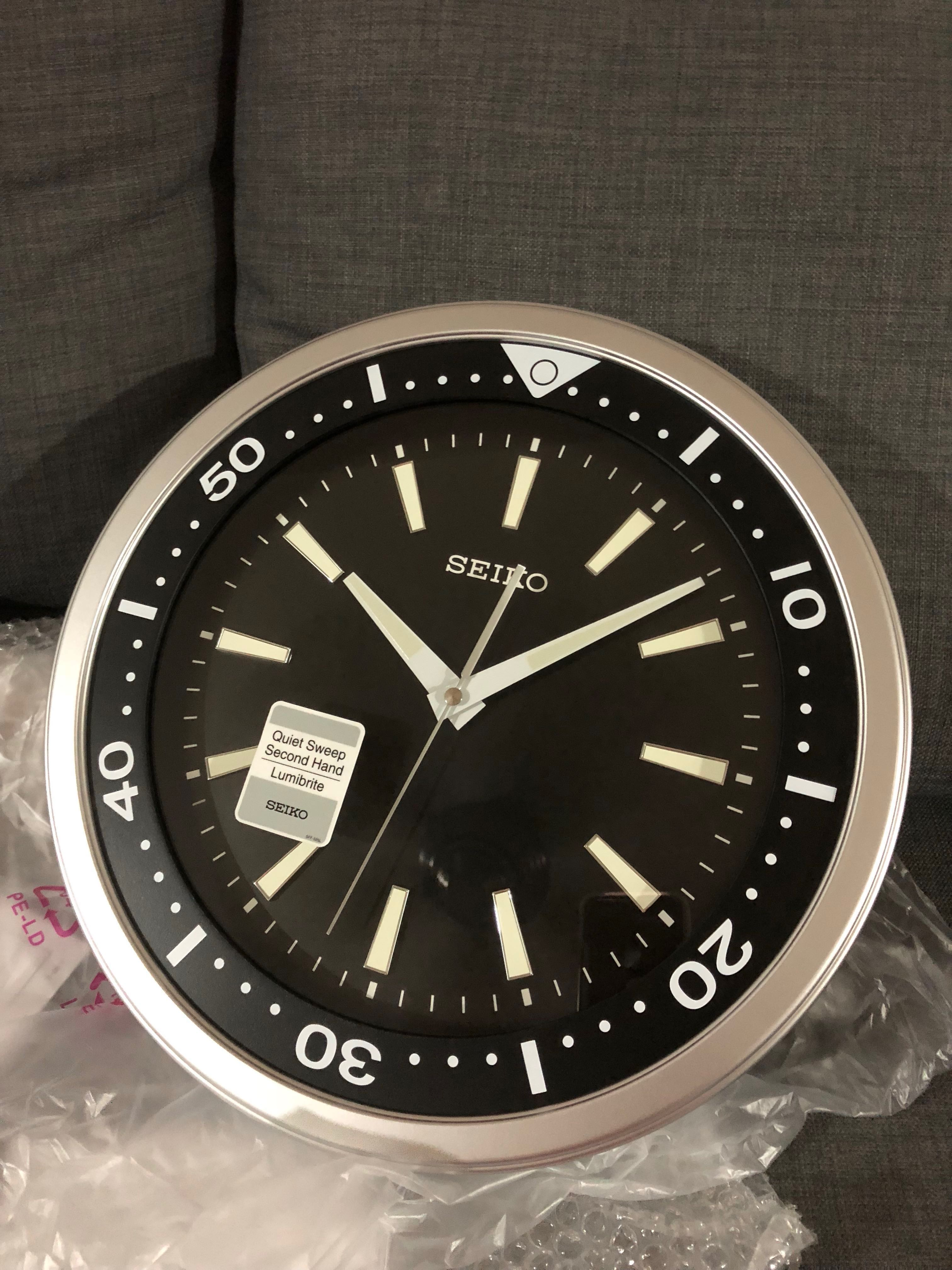 Brand New Seiko Wall Clock Diver Qxa723a Rare Piece With