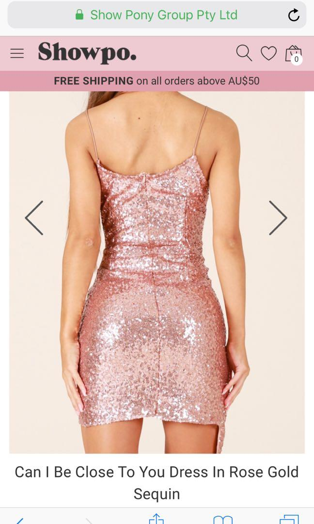 Brand new showpo sequin dress.