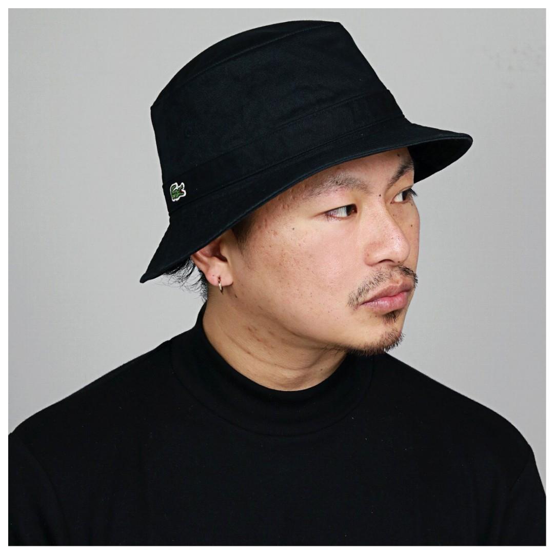 87aba92f17 Lacoste Black Bucket Hat
