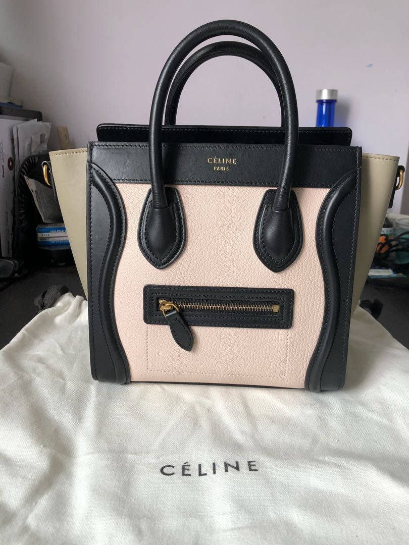 Celine Nano Luggage in Light Rose 7cda645f8a621