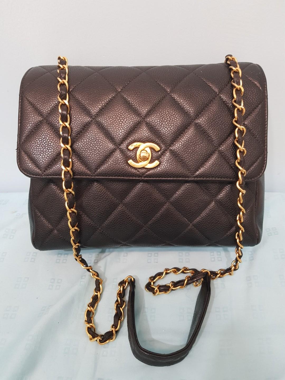 3420b4fe9ba2 Chanel bag caviar square flap, Luxury, Bags & Wallets, Handbags on ...