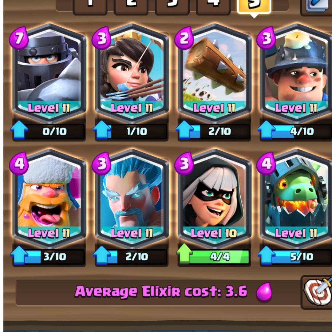 Clash Royale Account With All Legendary Cards And All Cards