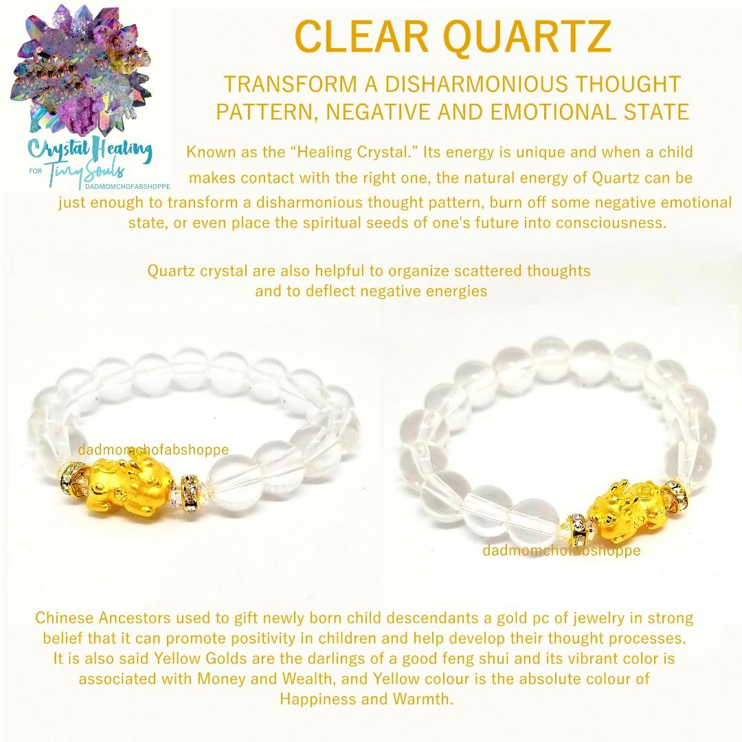 Feng Shui Kids Crystal Healing w/ 24k Real Gold Chinese Baby