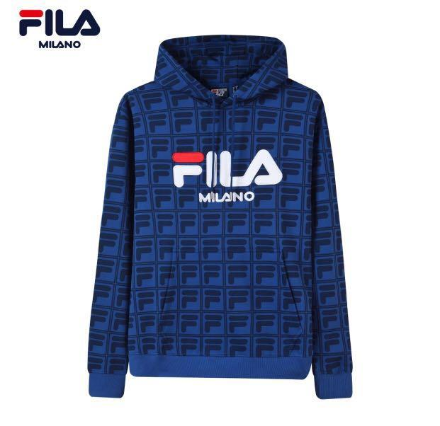 Fila Milano hoodie, Men's Fashion, Clothes, Tops on Carousell