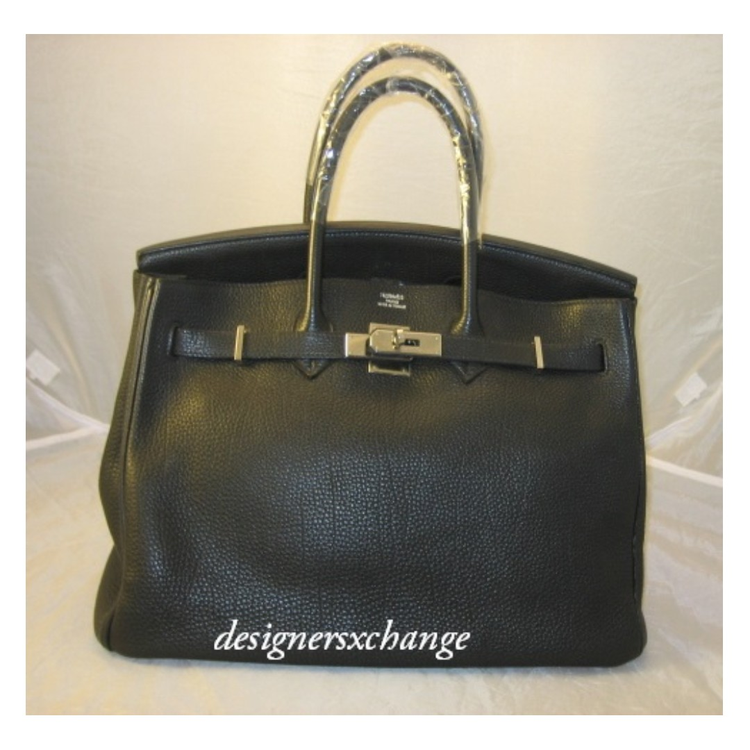 565165bae94e Hermes Birkin 35 Black Togo Leather Palladium Hardware (O stamp ...