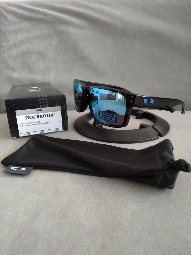 5d6008cc2fb Holbrook prizm deep h2o polarized lens polished black frame oo9103 ...