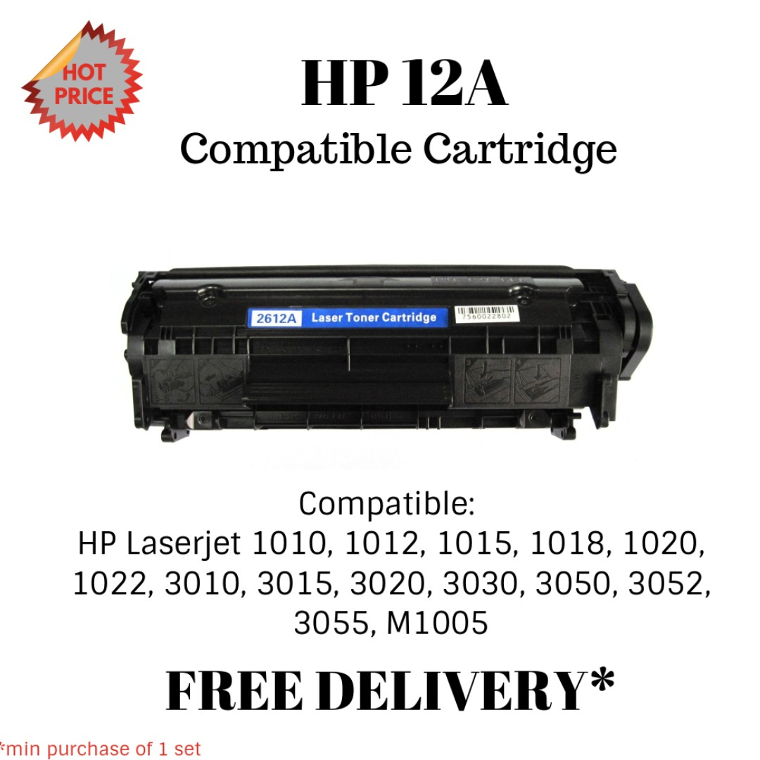 Hp 12a Q2612a Compatible Toner Books Stationery On Cartridge 1020 Carousell