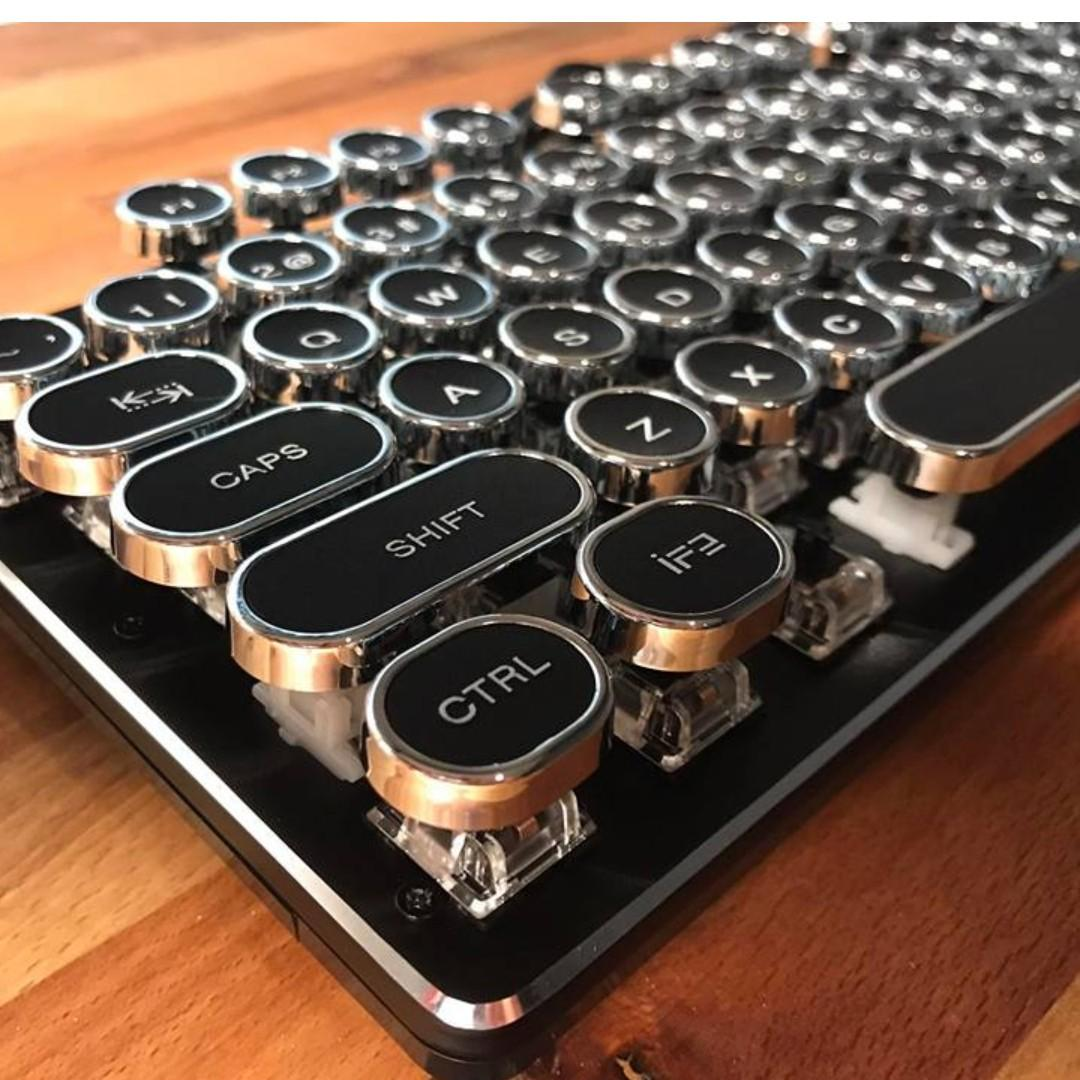 NEW Steampunk / Typewriter Style Retro Mechanical Keyboard. 12Mnth Warranty.  Brand