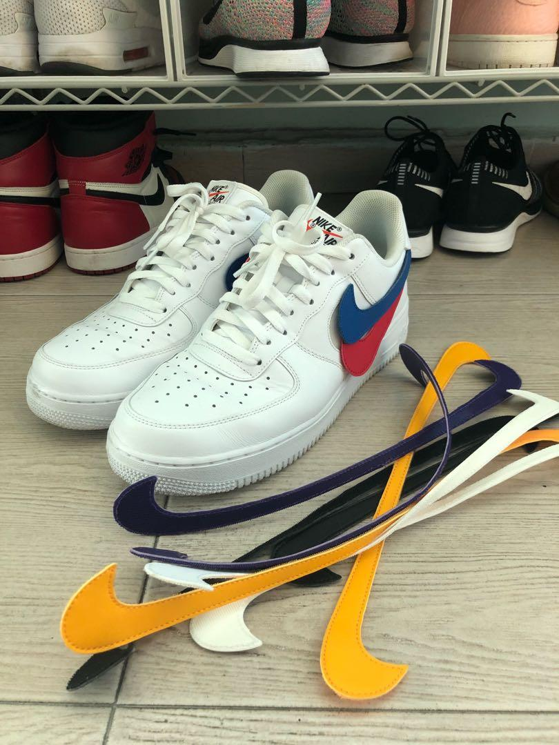 buy popular 25453 b8683 Nike Air Force One 1 Low Swoosh Pack All Star White 2018 ...