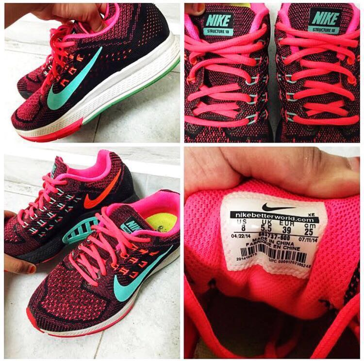 84e5a00c3789d NIKE AIR ZOOM STRUCTURE 18 WOMEN SPORTS SHOES (SIZE 39)