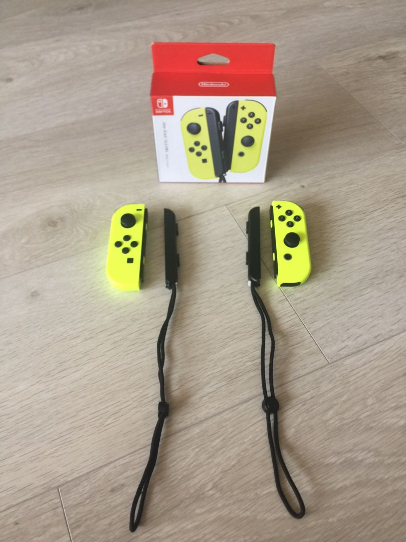 Nintendo Switch Joy Con Neon Yellow Toys Games Video Gaming Strap Accessories On Carousell