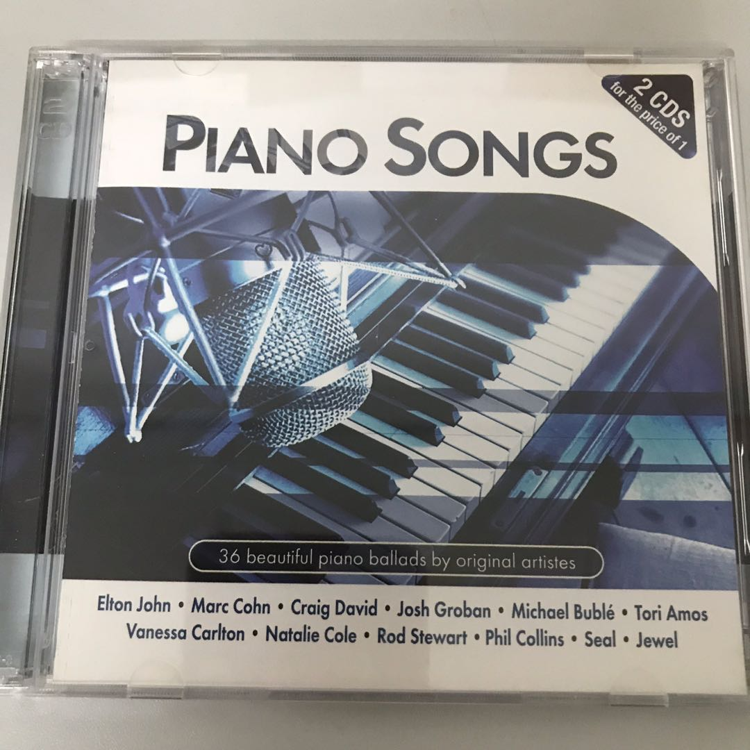 Piano Songs-Various Artists CD (2 CDs set)