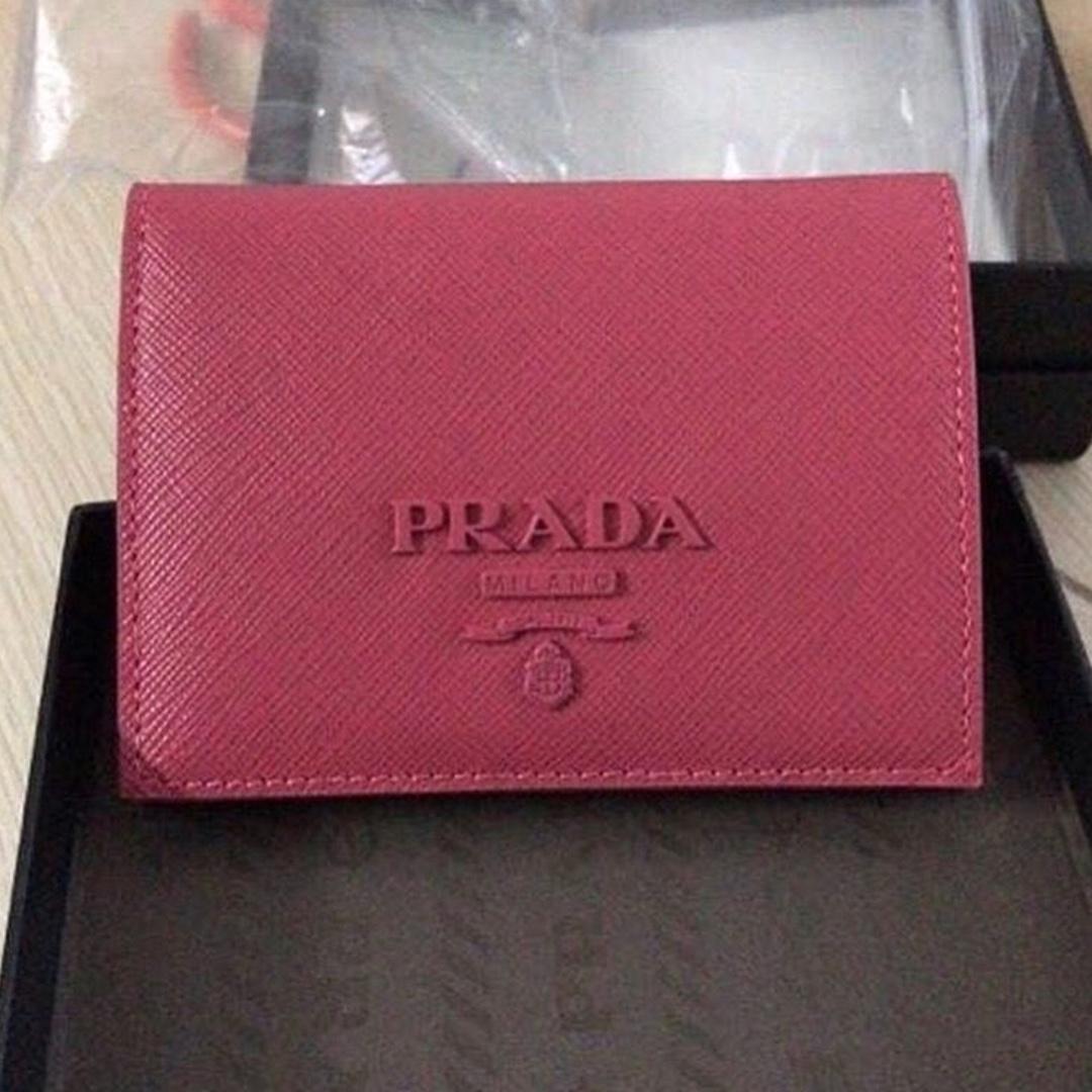 3ad51ad35005 Prada monochrome small wallet/Card holder, Women's Fashion, Bags ...