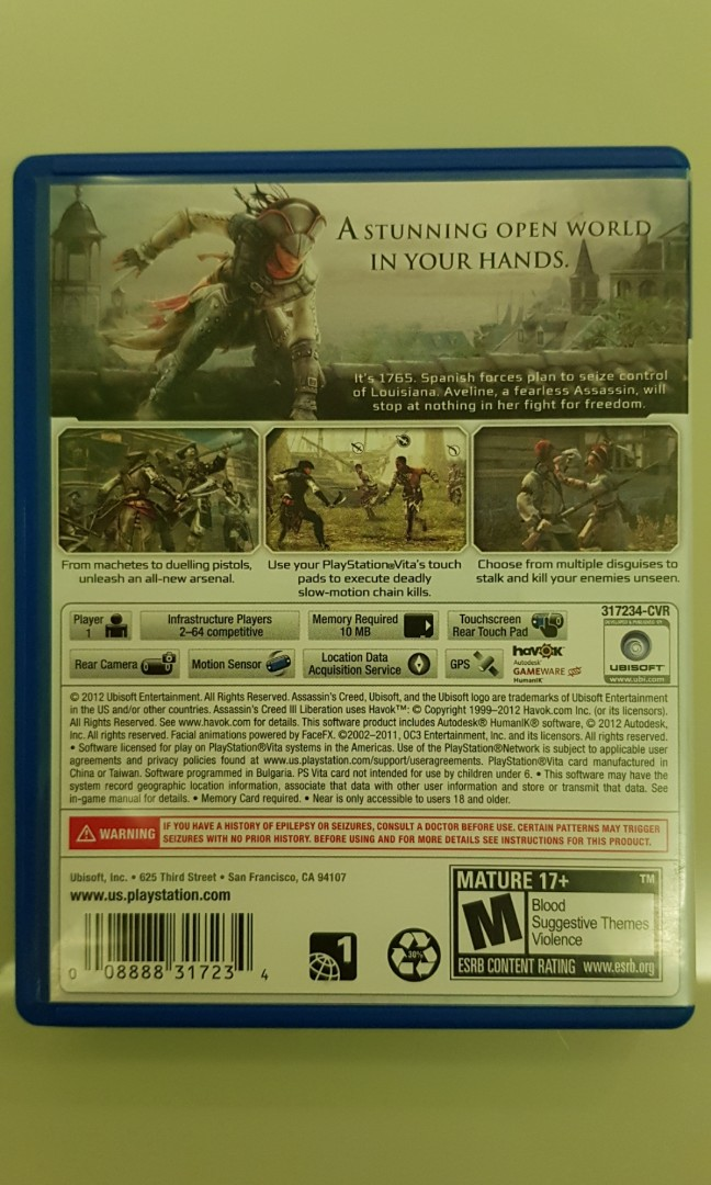 PS Vita - Assassin's Creed III Liberation