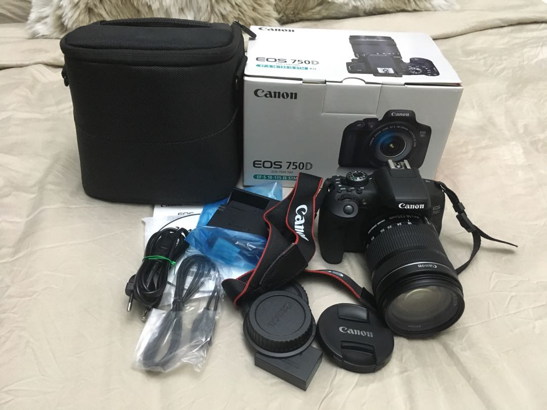 Rarely Used Canon Eos 750d For Sale Photography Cameras Dslr On Carousell
