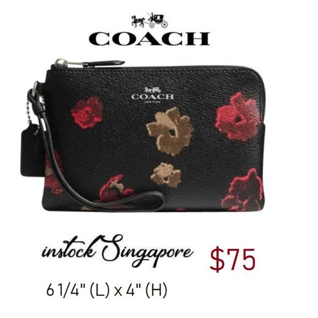 97f0444b725f READY STOCK authentic new Coach CORNER ZIP WRISTLET IN HALFTONE ...