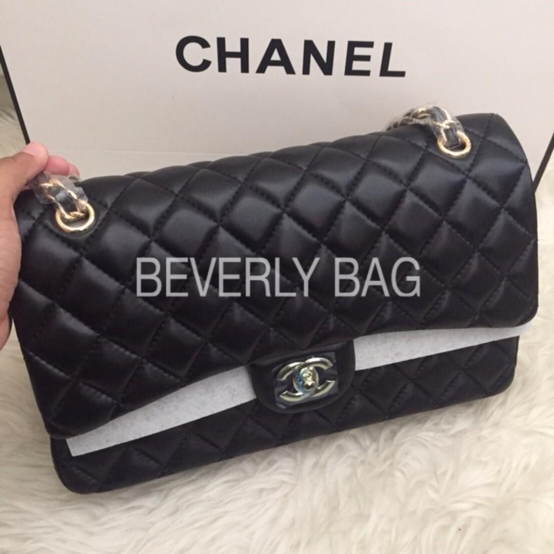 12b61fef26da READY tas Chanel Classic Lambskin 30 LEATHER MIRROR - hitam, Olshop ...