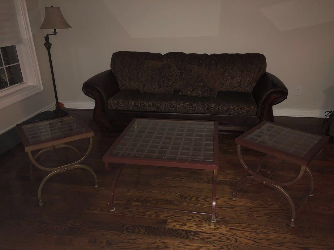 *REDUCED* 3 brown tables (coffee and 2 side tables)