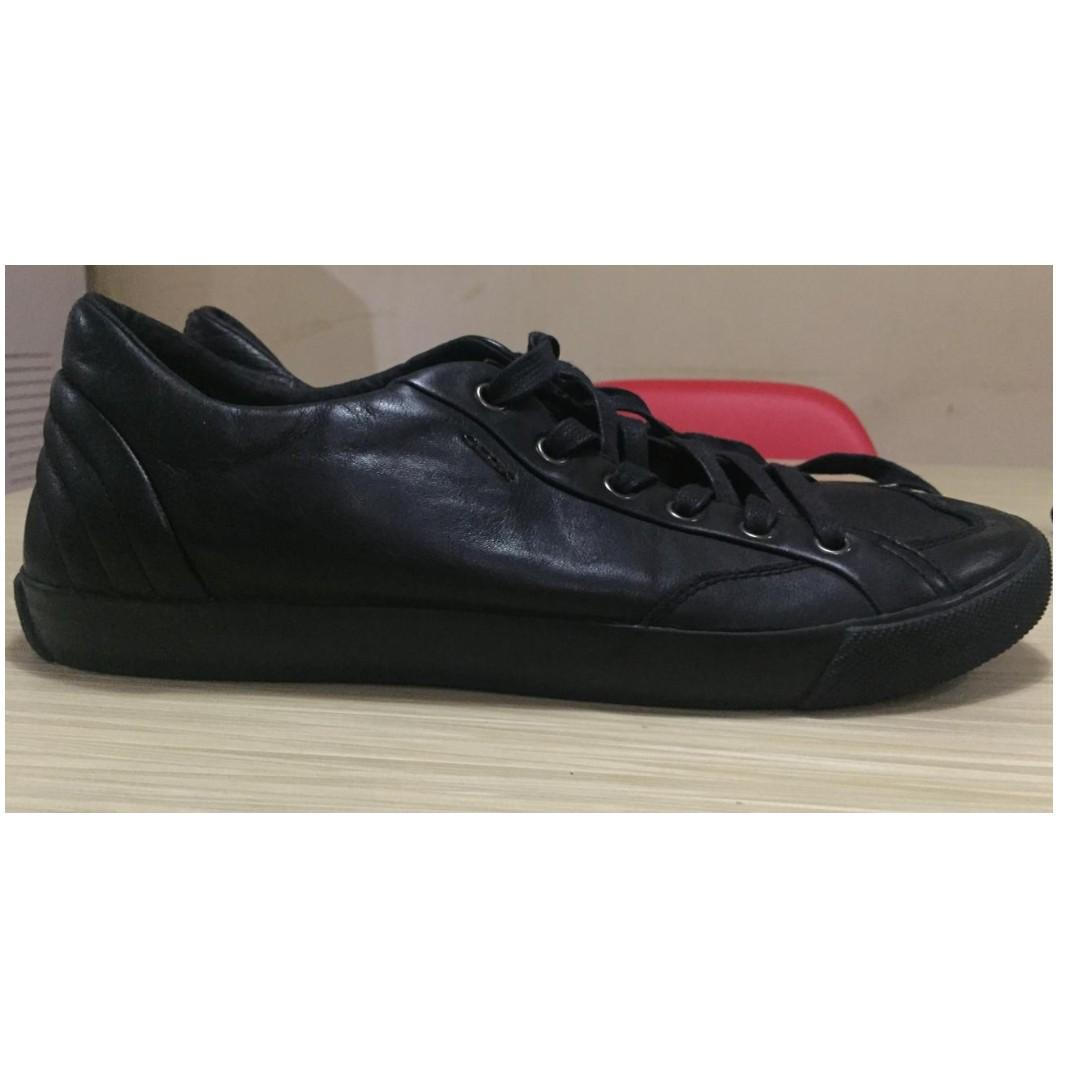 Sepatu Kulit Geox Respira Full Black Leather 100 Original Men S