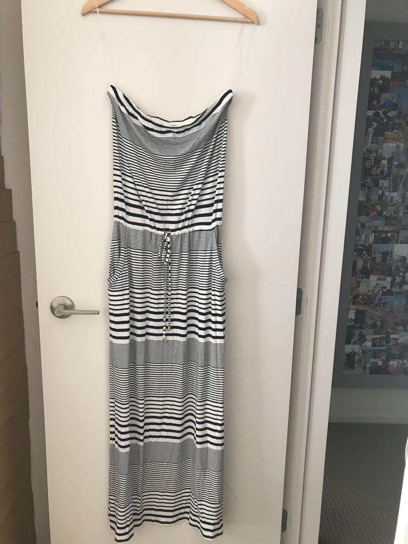 Strapless summer dress : size 8-10