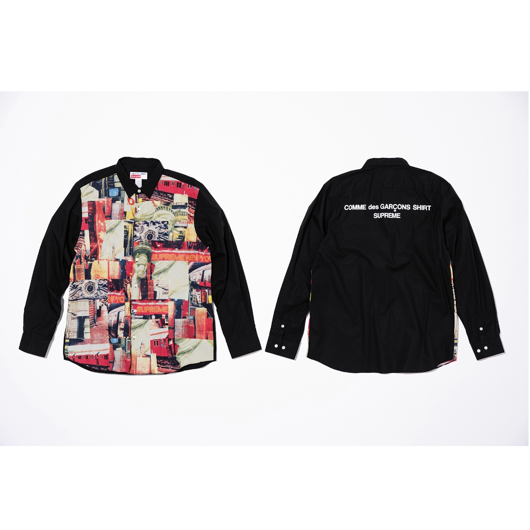 eb33cf4f74ac Supreme x CDG Shirt Patchwork Button Up Multicolor