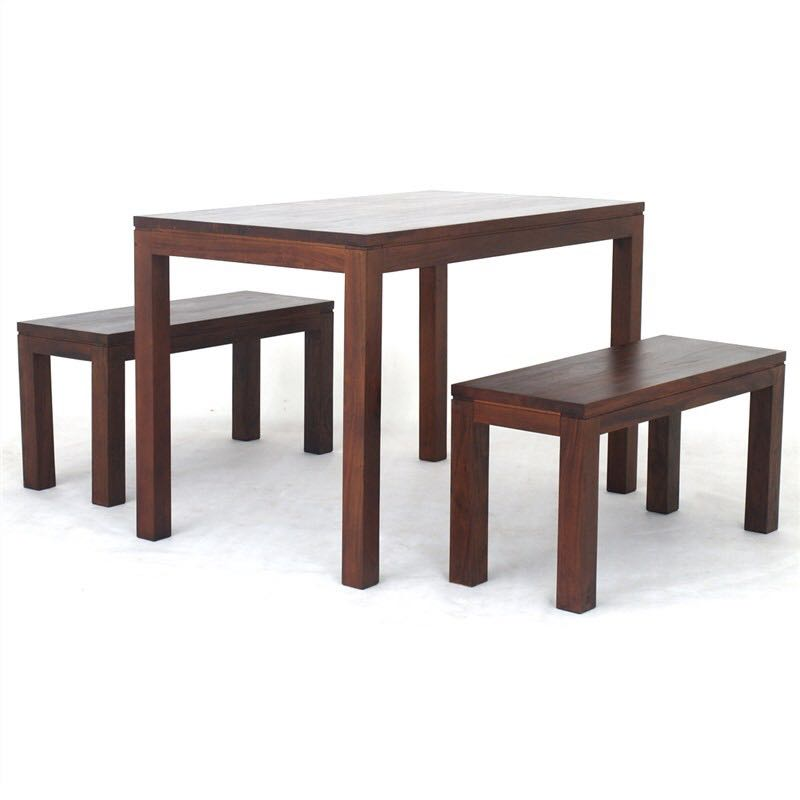Teak Dining Table N Bench Or Chairs Set 150cm Sale Sept25 30