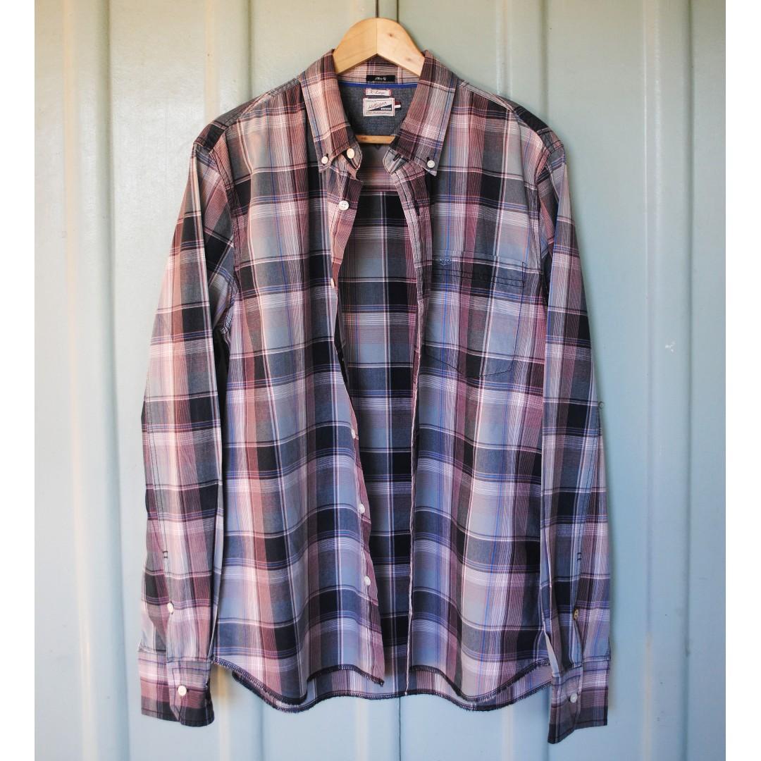 Tommy Hilfiger Heritage Denim Checkered Button Up Shirt