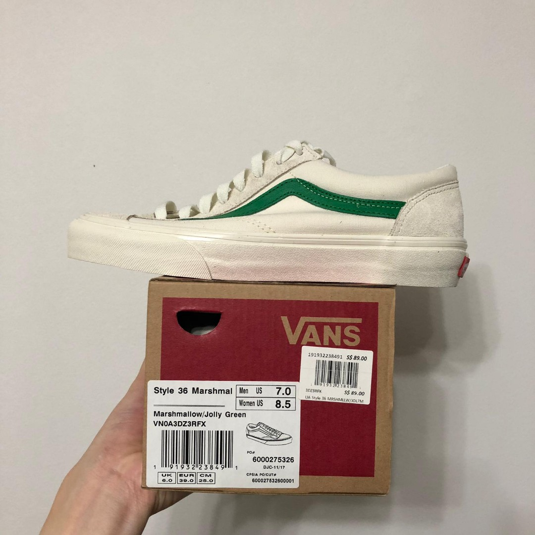 aaf30a9363 Vans Style 36 Marshmallow Jolly Green