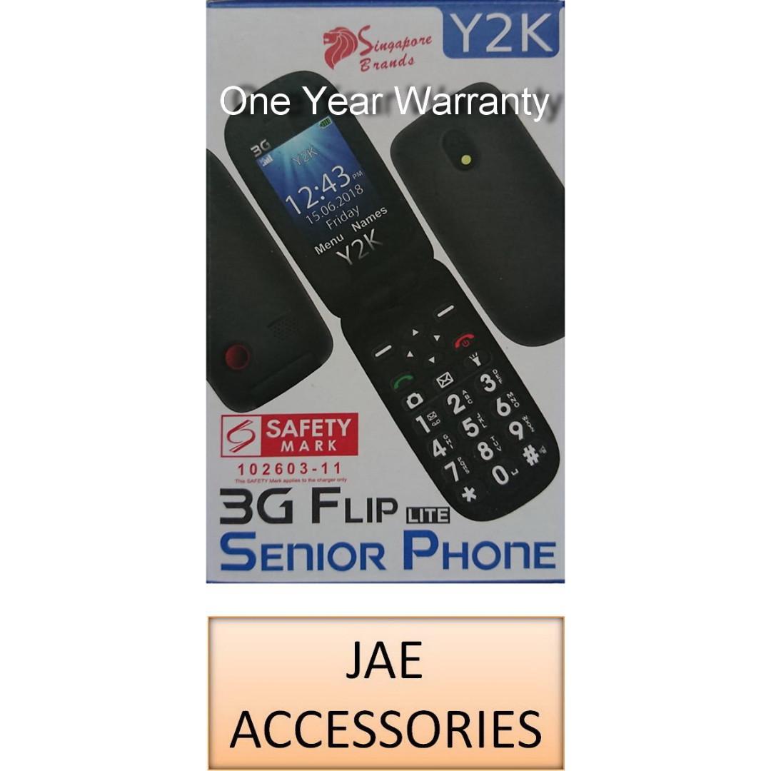 Y2K 3G Flip Phone Lite 2018 (1 Year Local Manufacturer Warranty)