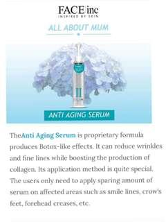 😍CRAZIEST  $19.95 SALE (RP:$88) EXPIRES DEC 19!!!!! 😙FIRMER YOUTHFUL BOTOX LIKE CONTOURS WITH A CONVENIENT APPLICATOR! ❤SEE RESULTS IN JUST 8 DAYS!! The Face Inc Anti Aging Serum | 17ml