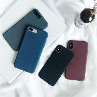 solid colour matte soft case