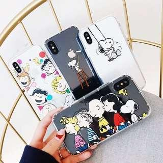 cute snoopy phone case (soft rubber)