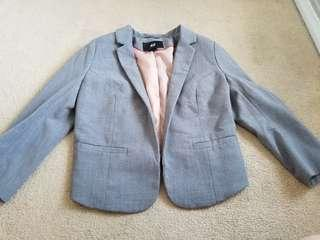 H&M Short Grey Blazer
