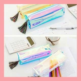 Pencil Case with Tassel Lace