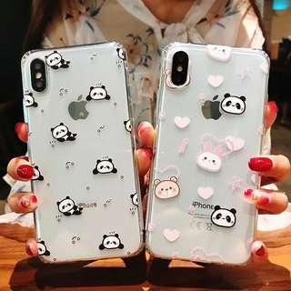 clear cute panda phone case (soft case)
