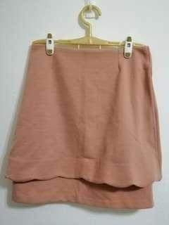 BNWT ASOS layered pink skirt with scallop hem