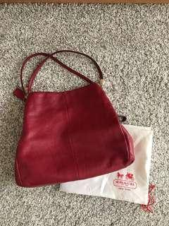 Coach phoebe shoulder bag in pebble leather (small)  Classic Red