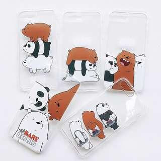 clear we bare bears case (soft tpu)