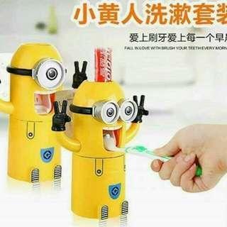 小黄人卡通牙刷架