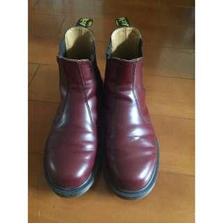 🚚 Dr.martens馬丁馬汀大夫短靴.酒紅色