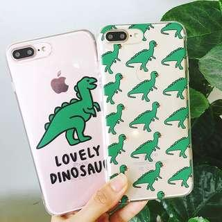 cute dinosaur phone case (soft case)