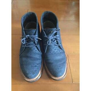 🚚 Agyness Deyn xDr.martens馬汀大夫聯名限量鞋.藍拼接丹寧感